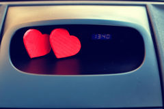 Symbol of love and fidelity red heart shape as gift for Valentine Day Stock Photography