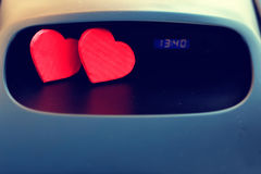 Symbol of love and fidelity red heart shape as gift for Valentine Day Royalty Free Stock Images