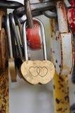 Symbol of love. Padlock shape hearts. Symbol of love royalty free stock image