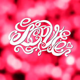 Symbol of love and Valentines day lettering Stock Photo