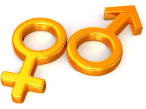 Symbol-Männer und Frauen. Liebe. lizenzfreie abbildung