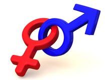 Symbol-Männer und Frauen. Liebe stock abbildung