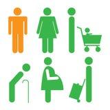 Symbol männlich-weiblich Lizenzfreie Stockfotografie