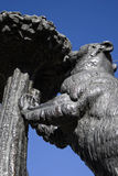 Symbol of Madrid. Detail of bear and the strawberry tree statue. Puerta del Sol - Madrid, Spain Royalty Free Stock Photo