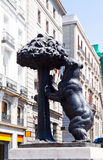 Symbol of Madrid -  Sculpture of Bear and Madrono Tree Royalty Free Stock Image