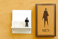 Symbol of male toilet Stock Images