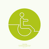 Symbol man on the wheelchair Royalty Free Stock Images
