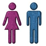 Symbol of man and woman royalty free stock photography