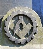 The  symbol of the marble monument stock photography