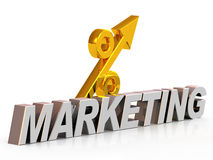 Symbol marketing and percent Stock Images