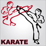 Symbol Martial arts. Original colored sports style vector emblems. Japan, Korea, Okinawa Royalty Free Stock Images
