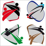 Symbol Martial arts Royalty Free Stock Images