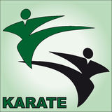 Symbol Martial arts. Original colored sports style vector emblems. Japan, Korea, Okinawa Royalty Free Stock Photography