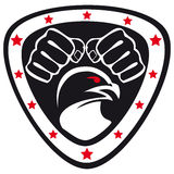 Symbol Martial arts- fists,hawk,eagle. Royalty Free Stock Images