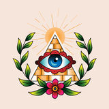 Symbol of the masons Stock Photo