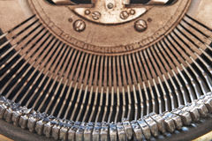 Symbol and mechanism of old typewriter. Stock Images