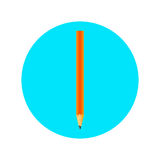 Symbol med en blyertspenna Arkivbilder