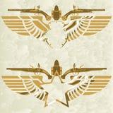 Symbol med en forntida weapon-1 Arkivbild