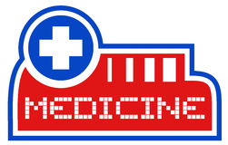 Symbol medicine. Creative design of symbol medicine Stock Photos