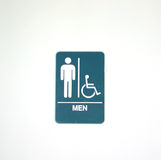 Symbol for men's room Stock Image