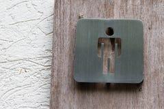 The symbol of men`s room. The symbol of men`s bathroom Stock Photo