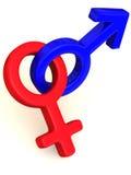 Symbol Men and Women. Love Stock Image