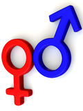 Symbol Men and Women. Love Royalty Free Stock Photo