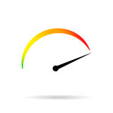 Symbol min max speed meter. Speedometer icon Stock Photos