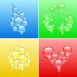 Symbol mit vier Farben Stockbild