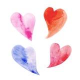 Symbol mit vier Herzen Lizenzfreies Stockbild