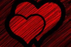 Symbol mit zwei Herzen Stockbilder