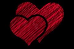Symbol mit zwei Herzen Lizenzfreie Stockfotos