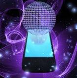 AT symbol mobile phone Royalty Free Stock Image