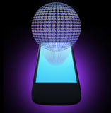 AT symbol mobile phone Royalty Free Stock Images