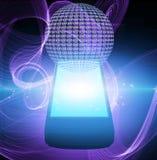 AT symbol mobile phone Stock Photos