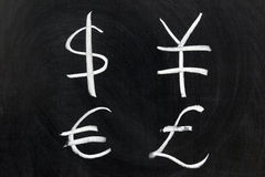 Symbol of money. Chalk drawing - Symbol of money Stock Images