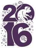 Symbol of monkey 2016. Stock Photography