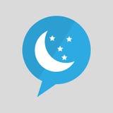 Symbol moon and star sleeps dreams design Royalty Free Stock Photos