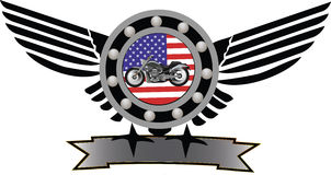 Symbol motorcycling Stock Photo