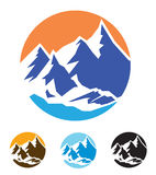Symbol of mountains Royalty Free Stock Images
