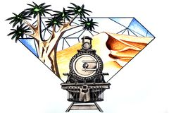 Symbol of Namibia Royalty Free Stock Images