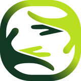 Symbol of a nature's care Stock Photography