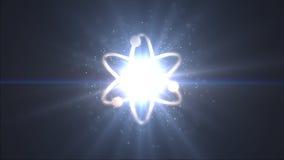Symbol nauki Prezentacja znak atom Obrazy Stock