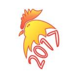 Symbol neuen Jahres 2017 auf dem Ostkalender Stockbild
