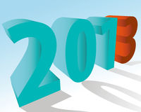 A symbol of new 2013 Royalty Free Stock Photo