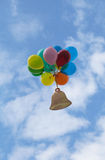 Symbol of the new school year and balloons Royalty Free Stock Image