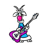 Symbol new year 2015 - funny goat guitarist Royalty Free Stock Photo