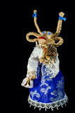 Symbol of 2015 new year - goat. Funny goat clothes on a black background. For New Year's greetings Stock Photo