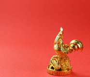 Symbol of the new year, golden cock, oriental Stock Image