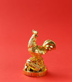 Symbol of the new year, golden cock, oriental Stock Photography